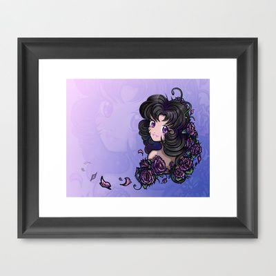 Anime / Manga Beautiful Eyes Sailor Moon Style Cute Flower Girl Framed Art Print by Tazmaa's Anime & Illustration Studio - $32.00