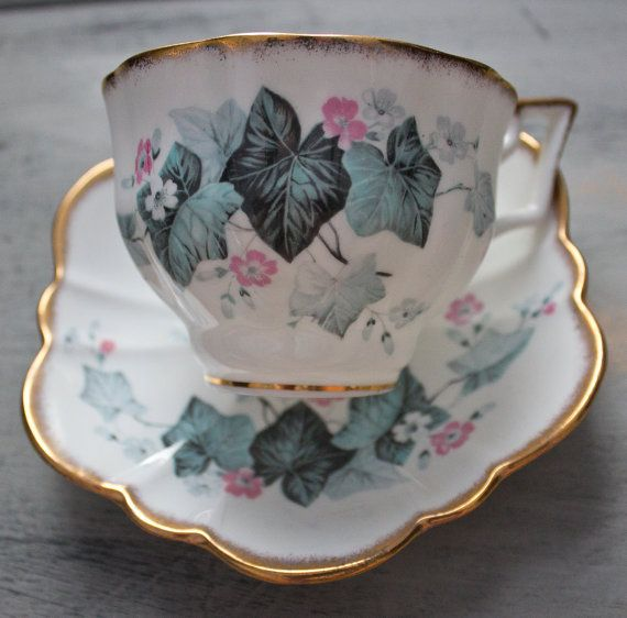 Salisbury English Bone China Teacup and by FragrantLavenderHome