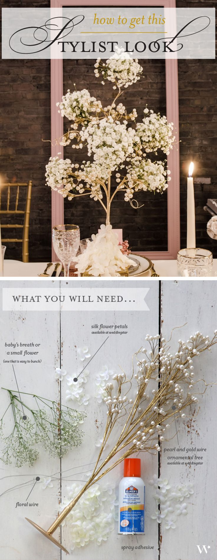 Wedding DIY: Showstopping Centerpiece! Learn how to make this gorgeous wedding centerpiece in our simple tutorial! http://blog.weddingstar.com/achieve-this-look-diy-centerpiece/