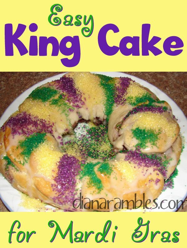 Easy King Cake Recipe for Mardi Gras - Want to celebrate Mardi Gras? Try this easy recipe for King Cake. This Mardi Gras Baby Cake is the best King Cake recipe to make on Fat Tuesday.