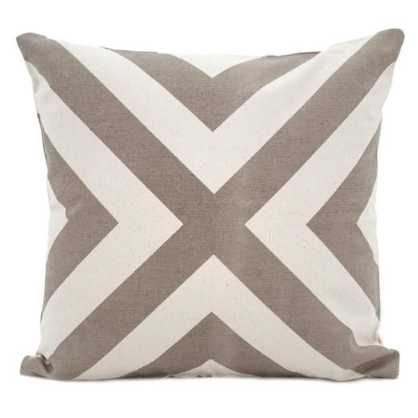 This monocromatic throw pillow 'plays well' with other textures and patterns adding a modern touch to your room. Details Color: Taupe, Cream Material: 100%