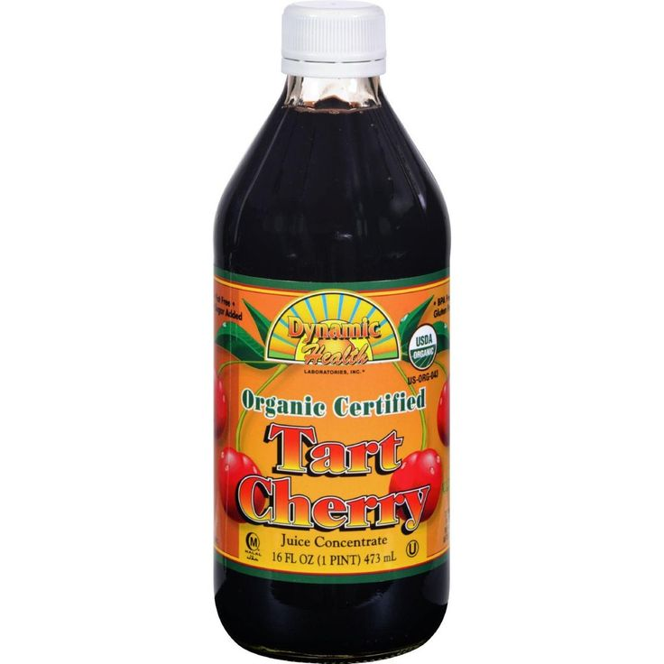 Dynamic Health Organic Certified Tart Cherry Juice Concentrate Tart Cherry - 16 Fl Oz