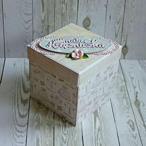 Exploding box - pudełko z życzeniami na chrzest.