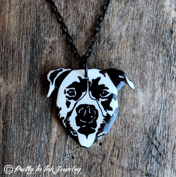 9 best everything pitbulls images on pinterest pit bull pit black and white grinning pit bull by pretty in ink jewelry aloadofball Gallery
