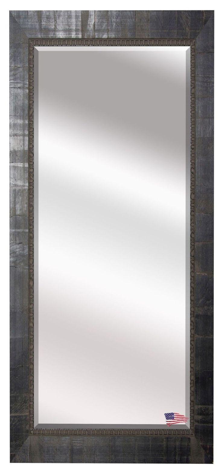 Beveled Black Wall Mirror