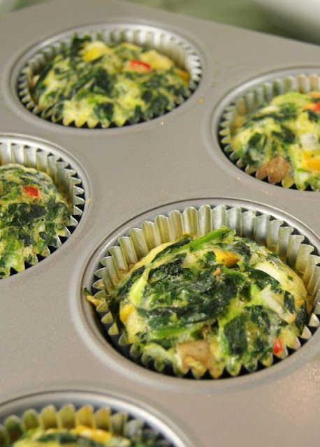 Low carb, low calorie individual quiche cups for breakfast {or lunch} on the go.