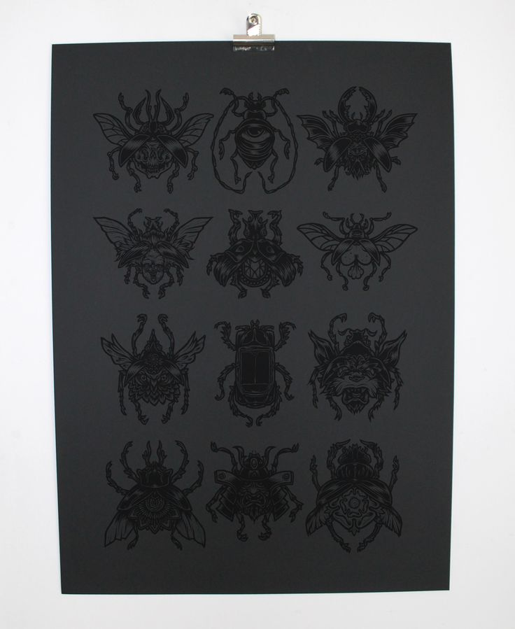 """Beetle Specimen"" by Mr Gauky Limited edition screen print"