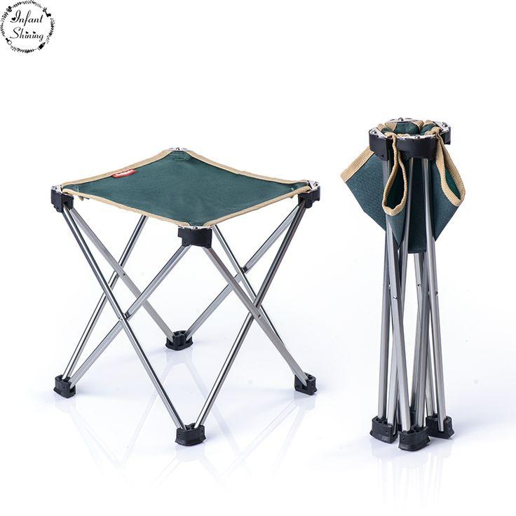 Outdoor Ultra Light Portable Folding Chair Camping Beach Chair Fishing Chair  Stool Leisure Writing Chair