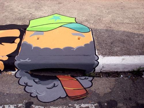 : Art Storms, Projects 6Emeia, Altered Streetscap, Wowstreet Art, Street Smart, 6Emeia Sao, Art En, Storms Drain, Drain Graffiti