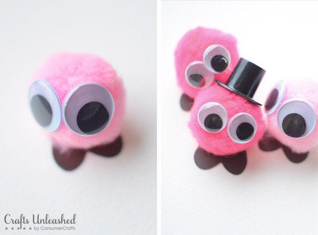 Valentine Crafts for Kids: Pom Poms - Crafts Unleashed