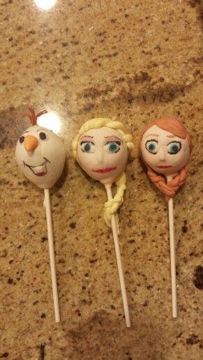 Frozen cake pops  Www.facebook.com/SarahDCakery