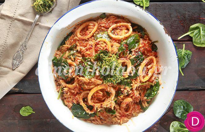 Καλαμαράκια γιουβέτσι με πέστο μαϊντανού | Dina Nikolaou