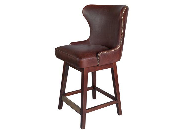 Данную модель барного стула отличает восхитетельная кожаная обивка с декоративными гвоздиками, невероятно комфортное сиденье и удобная подствка для ног.             Материал: Дерево, Кожа натуральная.              Бренд: Restoration Concept.              Стили: Лофт.              Цвета: Темно-коричневый.