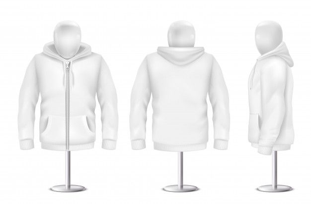 Download Download Realistic White Hoodie Front Back Side View Of Sweatshirt For Free Hoodie Template Black Hoodie Template Hoodie Vector