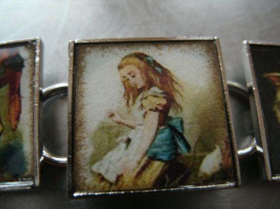 vintage alice in wonderland bracelet by southernheidibelle on Etsy, $65.00
