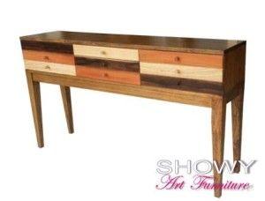 jual meja consul laci atau meja tembok aneka warna kayu original harga murah warna alami kayu