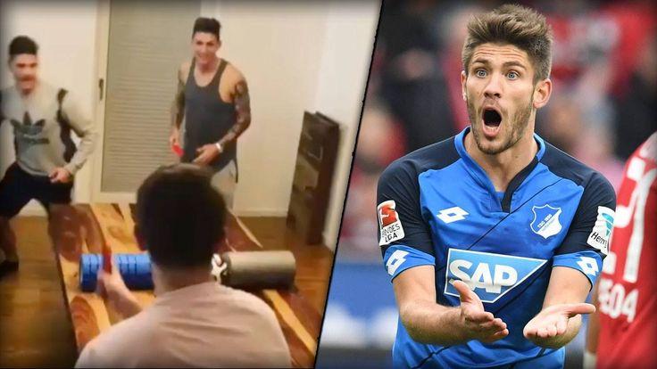 Spielvorbereitung mal anders! Der Abschluss bei den Hoffenheim-Stars vor dem Bayern-Spiel sitzt auf jeden Fall schon mal...