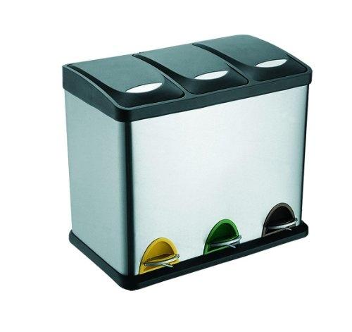 Edelstahl Mülleimer Abfalleimer  3 In 1  3 X 8 Liter