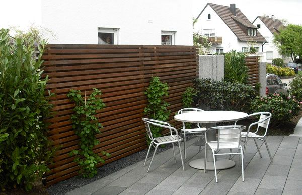 Sichtschutz Holz garden Pinterest