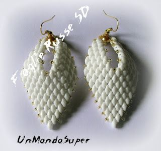 UnMondoSuper: Earrings Foglie Russe SD