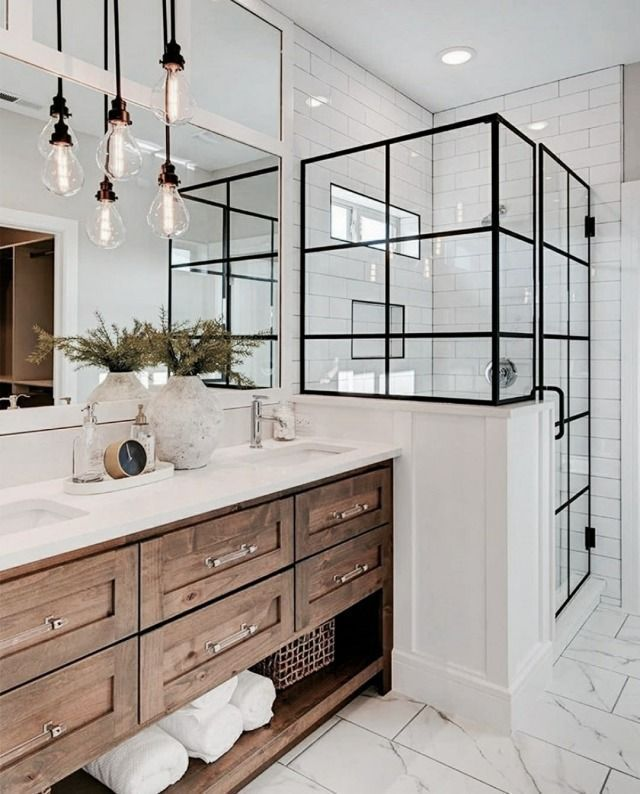Bathroom Inspiration Increase Your Home 59 Master Bathroom Decorating And Designing In 2020 Modern Farmhouse Bathroom House Bathroom Bathroom Remodel Master