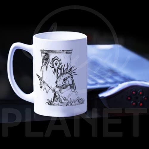 Kubek Murlock, inspirowany grą World of Warcraft. #wow #worldofwarcraft #murlock #mug #kubek #luxplanet