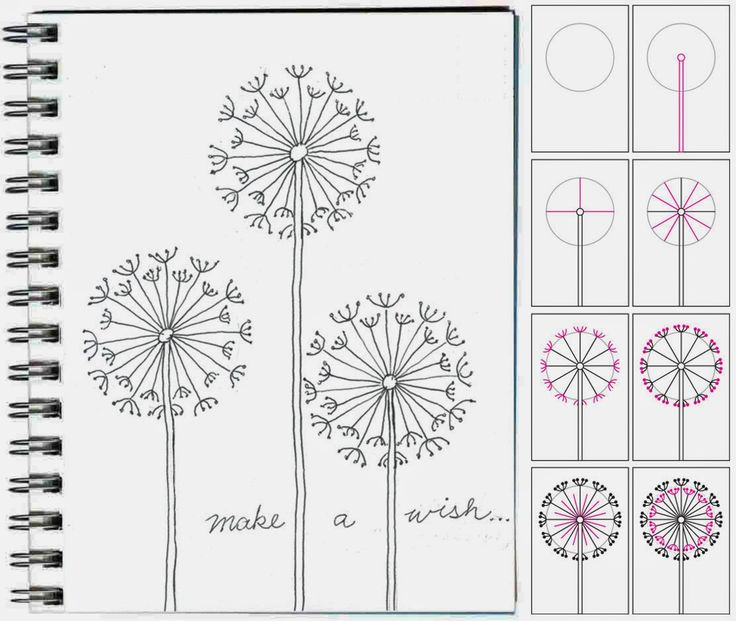 Art Projects for Kids: How to Draw a Dandelion
