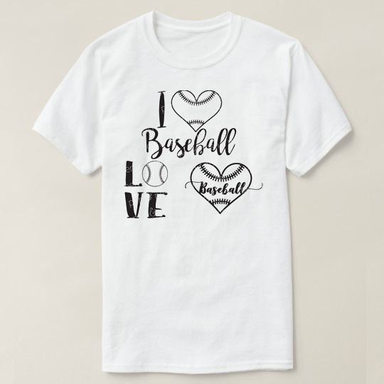I Love Baseball Custom Shirts //Price: $15.50 & FREE Shipping //     #funnytshirts