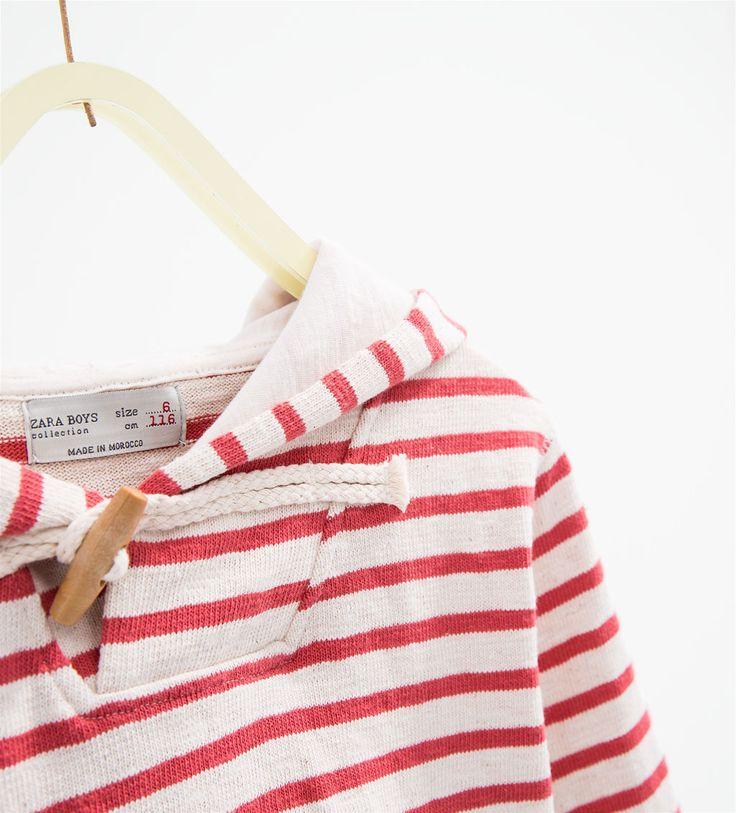 Jersey capucha rayas-SUDADERAS-NIÑO | 4-14 años-NIÑOS | ZARA España