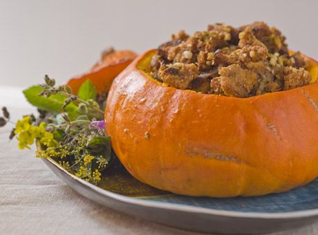 Stuffed pumpkin. Neo-Classical Thanksgiving Dressing with Apricots and ...