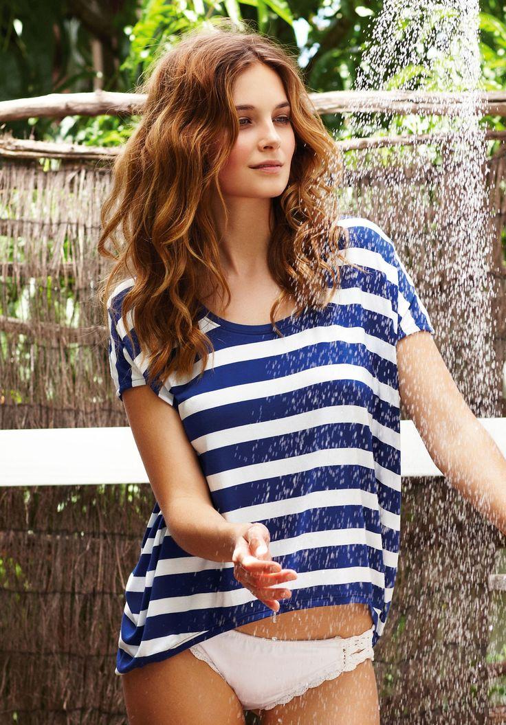 nautical blue stripes - i do love a good stripe! :)
