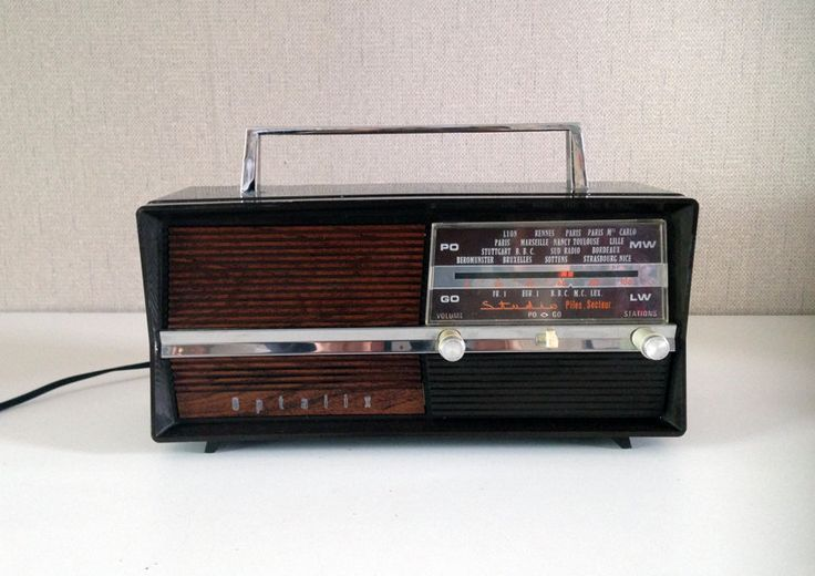 Vintage radio station transistor OPTALIX made in France - camping radio