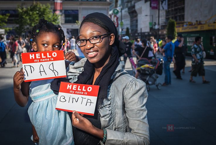 MARIUM & BINTA stop in Yonge Dundas Square to say Hello. #Hello #Art #PhotoProject #Unite #Portrait #YongeDundasSquare #Toronto