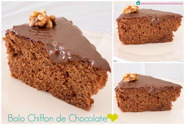 No Conforto da Minha Cozinha...: Bolo Chiffon de Chocolate no Robot de Cozinha...e ...
