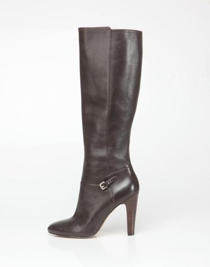 Brown heeled rider boot, Nine West