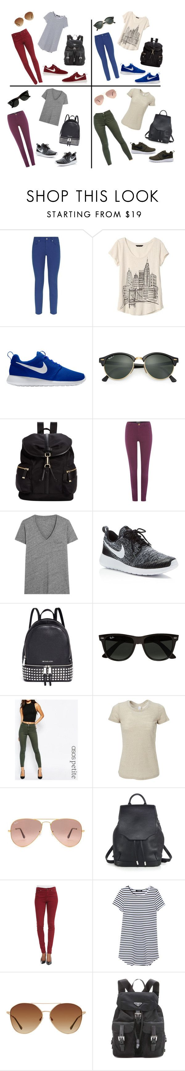 """""""Style all in one! #ROSHE"""" by rosarojas-1 ❤ liked on Polyvore featuring Escada Sport, Banana Republic, NIKE, Ray-Ban, Calvin Klein, Madewell, Michael Kors, ASOS, Simplex Apparel and rag & bone"""