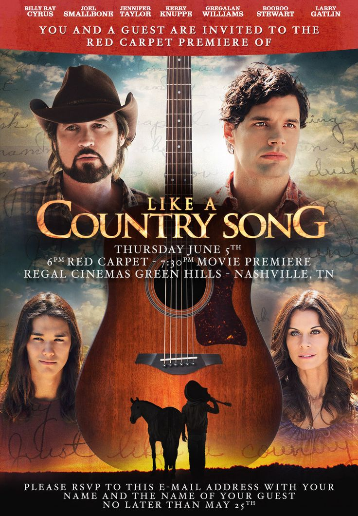 Like a Country Song (2014) Movie on DVD Billy Ray Cyrus