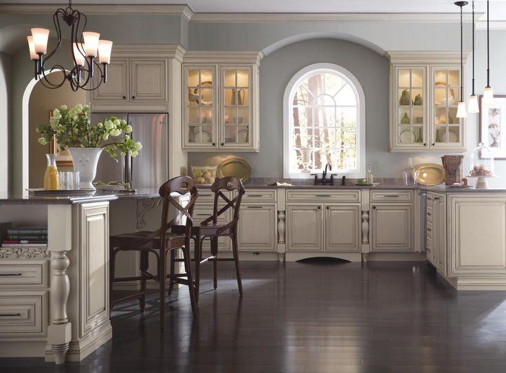 Schrocku0027s Newest Grey Stone Glaze, Shown On Coconut, Adds Cool  Sophistication To This Elegant. Cream Kitchen CabinetsKitchen ...