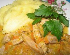 Свинина, тушённая с тыквой и морковью : Вторые блюда