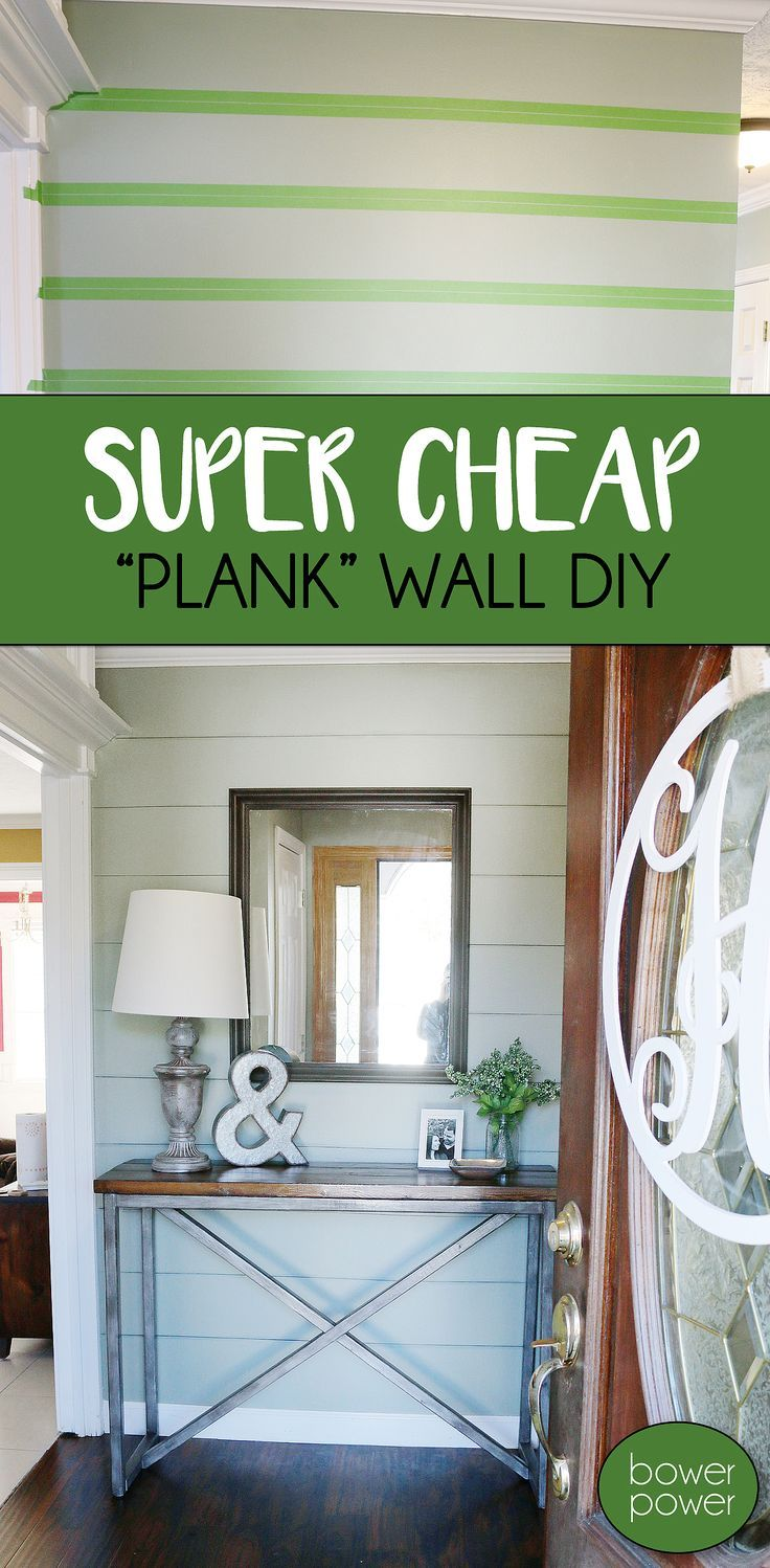 """Want to spruce up a boring wall? Add a """"Plank Wall"""" look for under $1!"""
