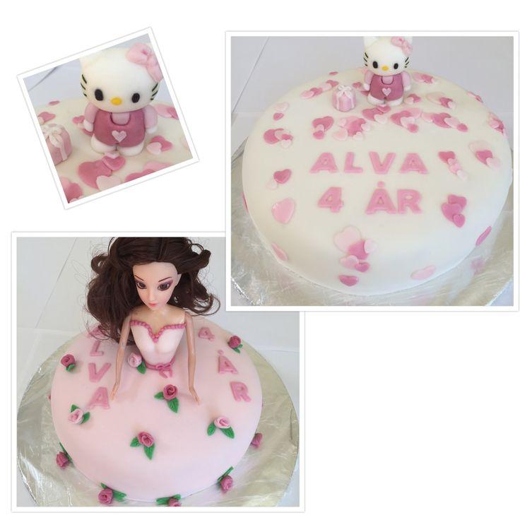DIY Hello Kitty cake, DIY Princess cake