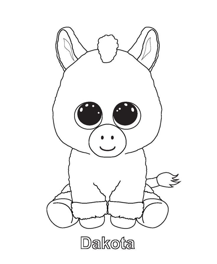 - Dakota - Beanie Boo Coloring Pages Baby Unicorn, Pictures Of Beanie Boos, Beanie  Boo Party