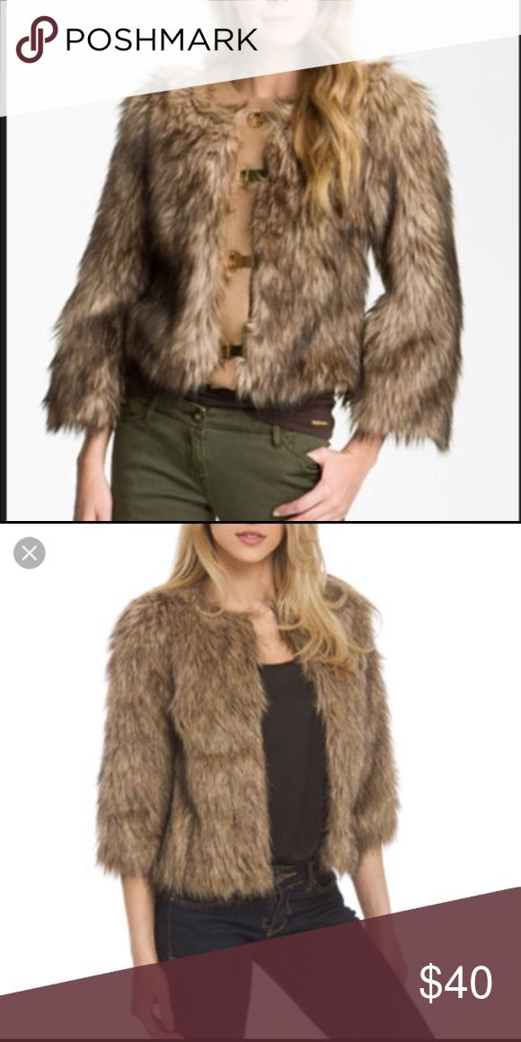 Faux fur coat new with tag Features fishhook and eye closure at front. Faux fur the boldness off united colors United Colors Of Benetton Jackets & Coats Trench Coats
