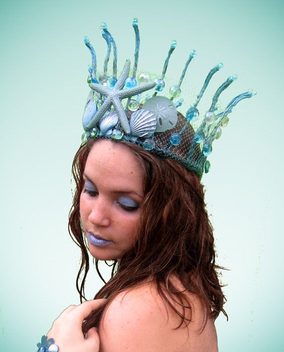 Mermaid Crown  Starfish and Seashells  by Frecklesfairychest, $75.00
