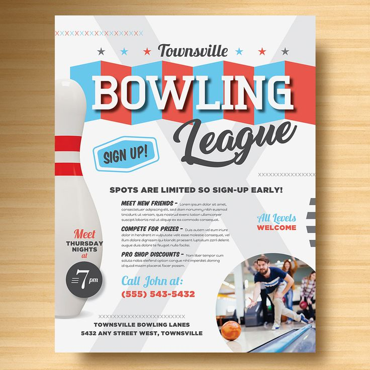 25 best Sports \ Fitness Marketing images on Pinterest Marketing - bowling flyer template