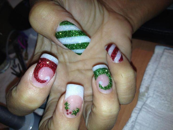 Holly/ Santa hat! Acrylic nail design - Best 20+ Santa Hat Nails Ideas On Pinterest Xmas Nails, Xmas