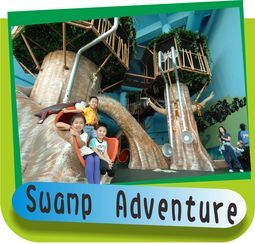 Swamp Adventure - this themed indoor playground was designed, manufactured and installed by International Play Company. www.iplayco.com or sales@iplayco.com for more information. #weBUILDfun #Iplayco #CommercialPlayground #ThemedPlay #ThemePark #SwampAdventure