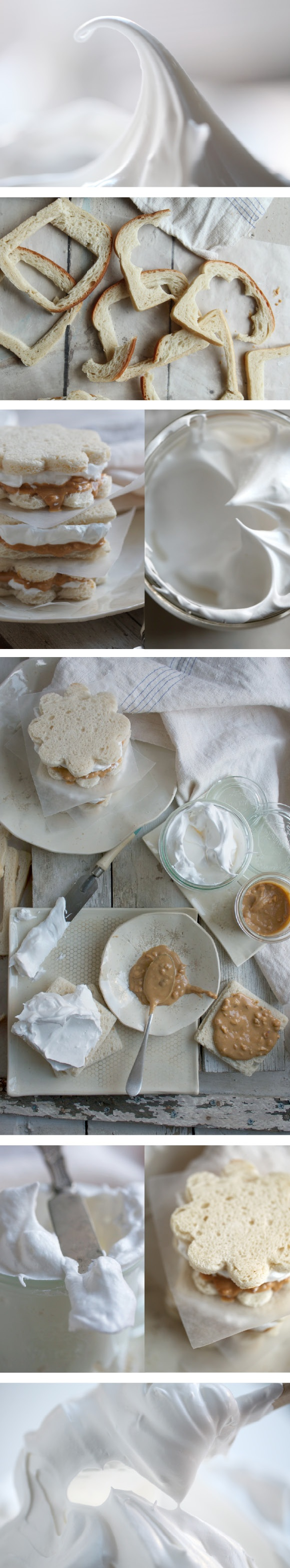 Homemade fluffernutter sandwiches. These pictures make me wish I could eat peanut butter!