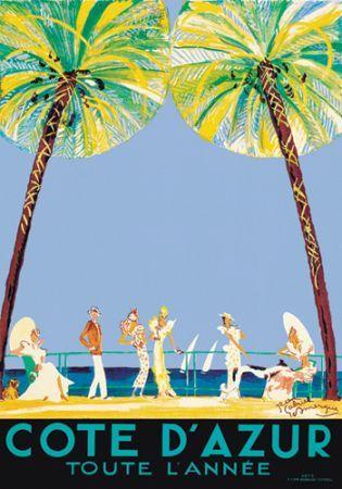 Côte d'Azur toute l'année vintage poster 10001