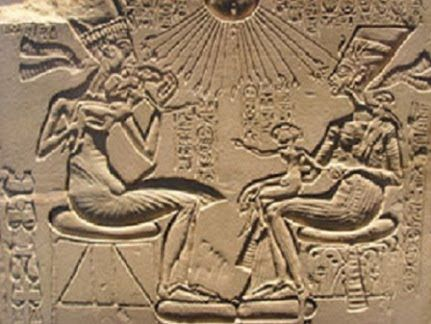 This Artifact was from Kincaids Tunnel.  Even though the many large other smaller Images were found in the Tunnel in the Grand Canyon, this Artifact was a important discovery for Smithsonian Archaeologist.  It is a Artifact is for King Akhenaten and Queen Nefertli. Their Ancestor's and Children's names are on the Artifact.